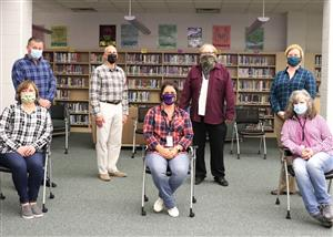 BOE Members join in spirit week 2020 at BSHS