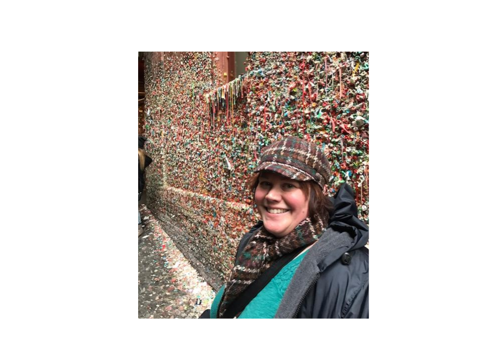Ms. Haessig at the Gum Wall in Seattle